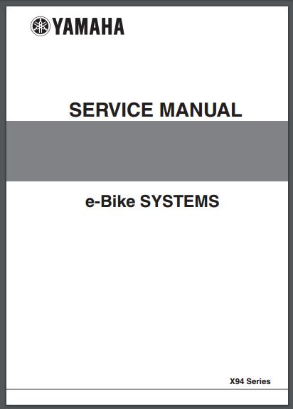 SERVICE MANUAL E-BIKE SYSTEMS YAMAHA